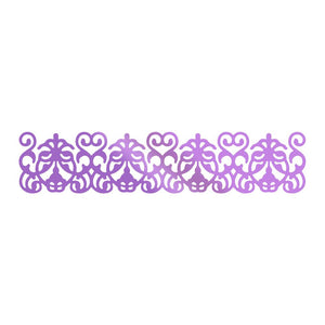 Couture Creations Butterfly Garden Collection - Garden Border Hotfoil Stamp WH | Couture Creations
