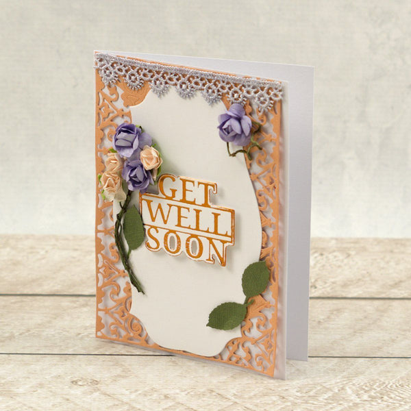 Get Well Soon Sentiment Mini Cut, Foil and Emboss Dies (1pc) | Hobby Craft and Scrap