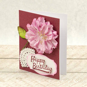 Happy Birthday Sentiment Mini Cut, Foil and Emboss Die (1pc)