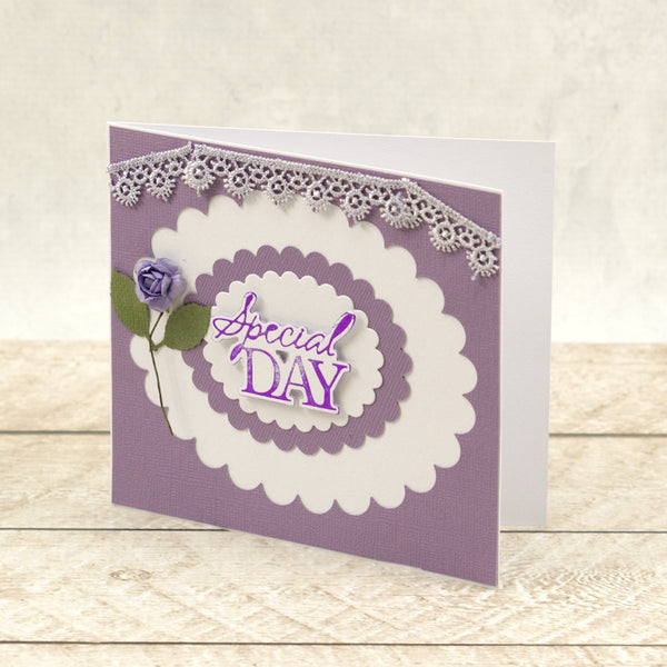 Special Day Sentiment Mini Cut, Foil and Emboss Die (1pc)