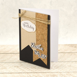 Sister & Brother Sentiment Mini Cut, Foil and Emboss Dies (2pc)