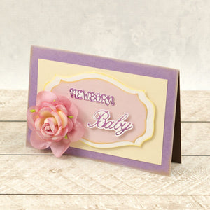 Newborn Sentiment Mini Cut, Foil and Emboss Dies (2pc)