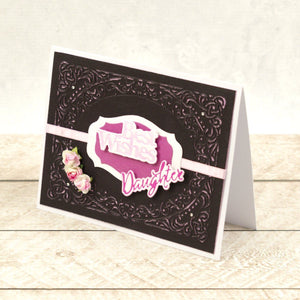 Daughter & Son Sentiment Mini Cut, Foil and Emboss Dies (2pc)