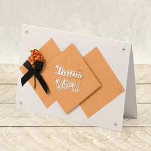 Thank You Sentiment Mini Cut, Foil and Emboss Die (2pc)