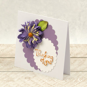 Thinking of You Sentiment & Bird Mini Cut, Foil and Emboss Dies (2pc)