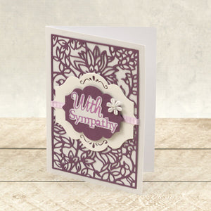 With Sympathy Sentiment Mini Cut, Foil and Emboss Die (1pc)
