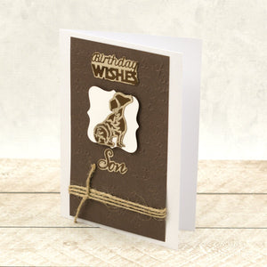 Puppy Silhouette Mini Cut, Foil and Emboss Die (1pc)