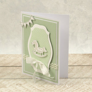 Horse & Pacifier Silhouette Mini Cut, Foil and Emboss Dies (2pc)