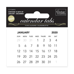 Calendar Tabs 2020 (10 sets of 12 months) | Couture Creations