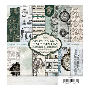 *Pre-Order* Paper Pad - Gentlemans Emporium - 152.4 x 152.4mm | 6 x 6in | Hobby Craft and Scrap