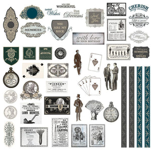 Ephemera - Gentlemans Emporium Diecut Ephemera Set - Assorted Sizes | Hobby Craft and Scrap