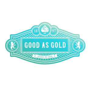 *Pre-Order* Mini Stamp - Gentlemans Emporium - Good as Gold Sentiment (1pc)