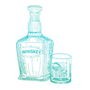 Mini Stamp - Gentlemans Emporium - Whiskey (1pc) | Hobby Craft and Scrap