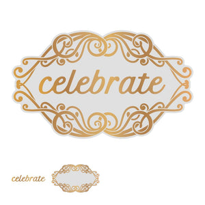 *Pre-Order* Cut, Foil and Emboss Die - Gentlemans Emporium - Celebrate Tag (1pc)
