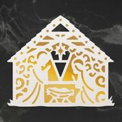 *Pre-Order* Naughty or Nice Away in a Manger Cut, Foil and Emboss Die (1pc)
