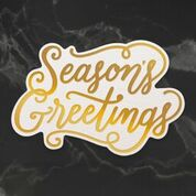 Naughty or Nice Seasons Greetings Sentiment Cut, Foil and Emboss Die (1pc) | Couture Creations