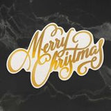 *Pre-Order* Naughty or Nice Merry Christmas Sentiment Cut, Foil and Emboss Die (1pc) | Couture Creations