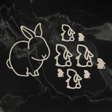 Easter 2019 Chipboard Selection - Easter Bunnies Chipboard Set (9pc) | Hobby Craft and Scrap