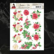 *Pre-Order* Jeanine's Art Christmas Classics Rose Decoupage A4 Sheet | Couture Creations