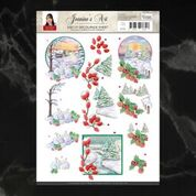 Jeanine's Art Christmas Classics Landscapes 1, A4 sheet