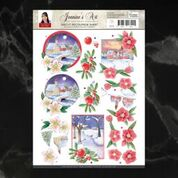 Jeanine's Art Christmas Classics Landscapes 2 Decoupage A4 Sheet