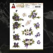 *Pre-Order* Precious Marieke The Nature of Christmas Winter Flowers Decoupage A4 Sheet | Couture Creations