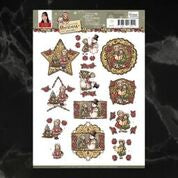 *Pre-Order* Yvonne Creations Celebrating Christmas Carols Decoupage A4 Sheet | Couture Creations