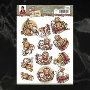 *Pre-Order* Yvonne Creations Celebrating Christmas Pets Decoupage A4 Sheet | Couture Creations