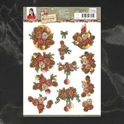 *Pre-Order* Yvonne Creations Celebrating Christmas Rose Bouquet Decoupage A4 Sheet