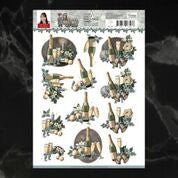 *Pre-Order* Amy Design Christmas Wishes New Year Decoupage A4 Sheet