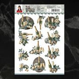 *Pre-Order* Amy Design Christmas Wishes New Year Decoupage A4 Sheet | Couture Creations