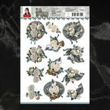 *Pre-Order* Amy Design Christmas Wishes Birds and Bells Decoupage A4 Sheet | Couture Creations