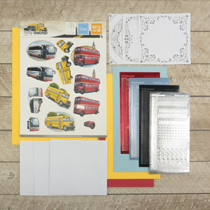 3D Diecut Decoupage Set  - Amy Spring - Its a Mans World - Buses | Couture Creations