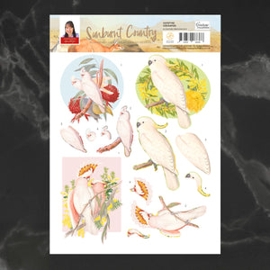 *Pre-Order* Decoupage - A4 Sheet Cockatoo | Couture Creations