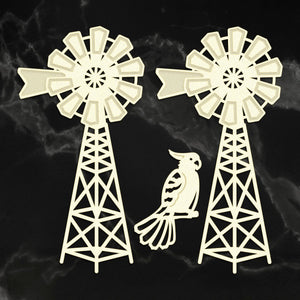 *Pre-Order* Coasterboard Country Windmill Set (3pc) | Couture Creations