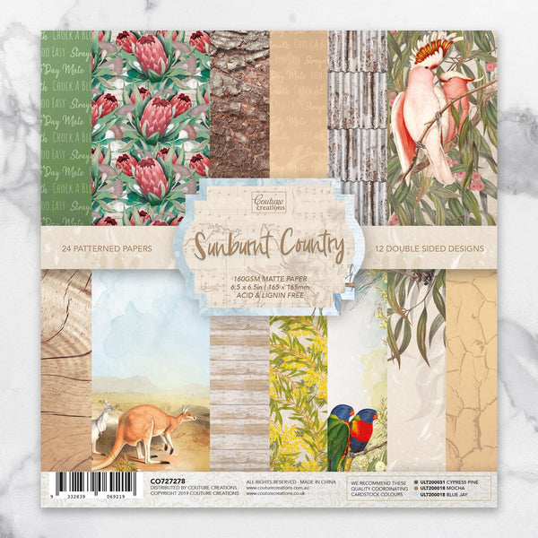 *Pre-Order* Paper Pad - 6.5 x 6.5in Sunburnt Country | Couture Creations