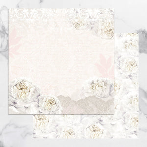 Paper - 12 x 12in Double Sided - Peaceful Peonies Sheet 2 (1pc)