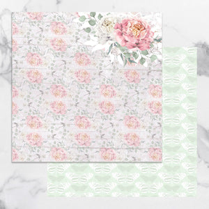 Paper - 12 x 12in Double Sided - Peaceful Peonies Sheet 3 (1pc)
