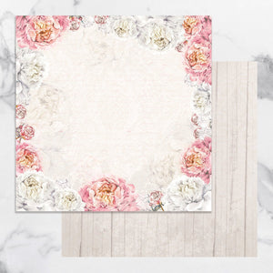 Paper - 12 x 12in Double Sided - Peaceful Peonies Sheet 4 (1pc)