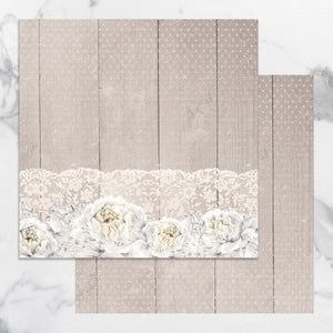 Paper - 12 x 12in Double Sided - Peaceful Peonies Sheet 5 (1pc)