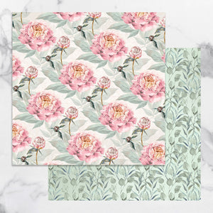 Paper - 12 x 12in Double Sided - Peaceful Peonies Sheet 6 (1pc)