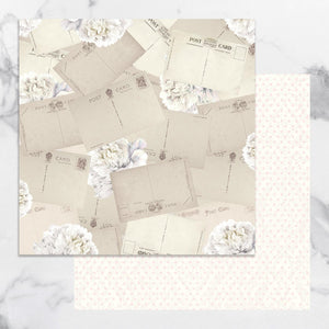 Paper - 12 x 12in Double Sided - Peaceful Peonies Sheet 7 (1pc)