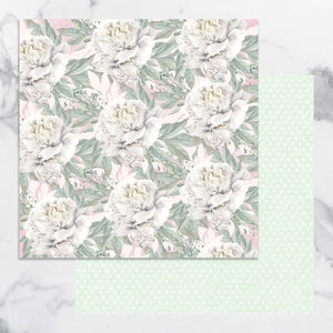 Paper - 12 x 12in Double Sided - Peaceful Peonies Sheet 10 (1pc)