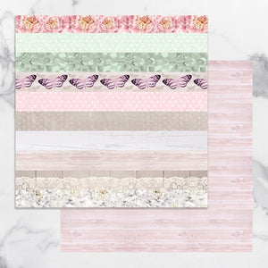 Paper - 12 x 12in Double Sided - Peaceful Peonies Sheet 11 (1pc)