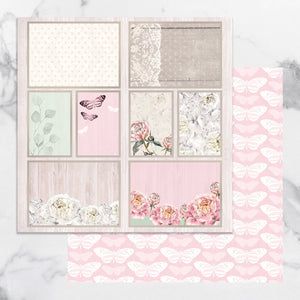 Paper - 12 x 12in Double Sided - Peaceful Peonies Sheet 12 (1pc)