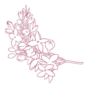 Mini Stamp - Peaceful Peonies - Lilacs (1pc)