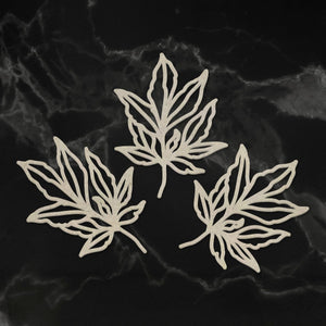 Chipboard - Peaceful Peonies - Leafy Branches (3pc) - 49 x 38mm each