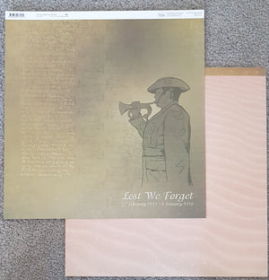 Lest We Forget - 12 x 12 Double Sided Paper, No.5 (1 sheet)