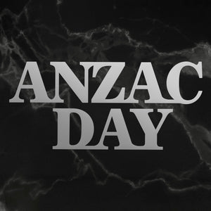 Lest We Forget - Mini Die, Anzac Day