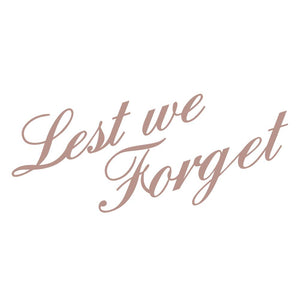 Lest We Forget - Mini Stamp, Lest We Forget